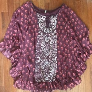 Free People ruffle boho dress size XS